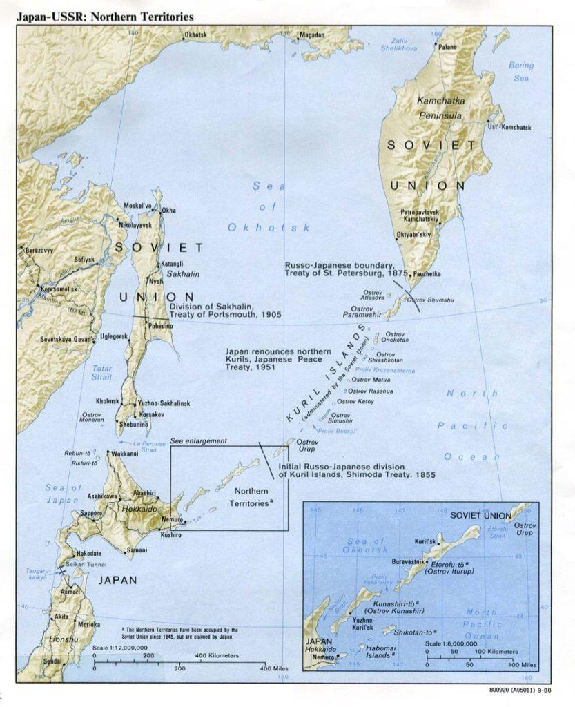 Где находятся на карте курильские острова